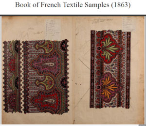 Book of French Textiles Samples 1863